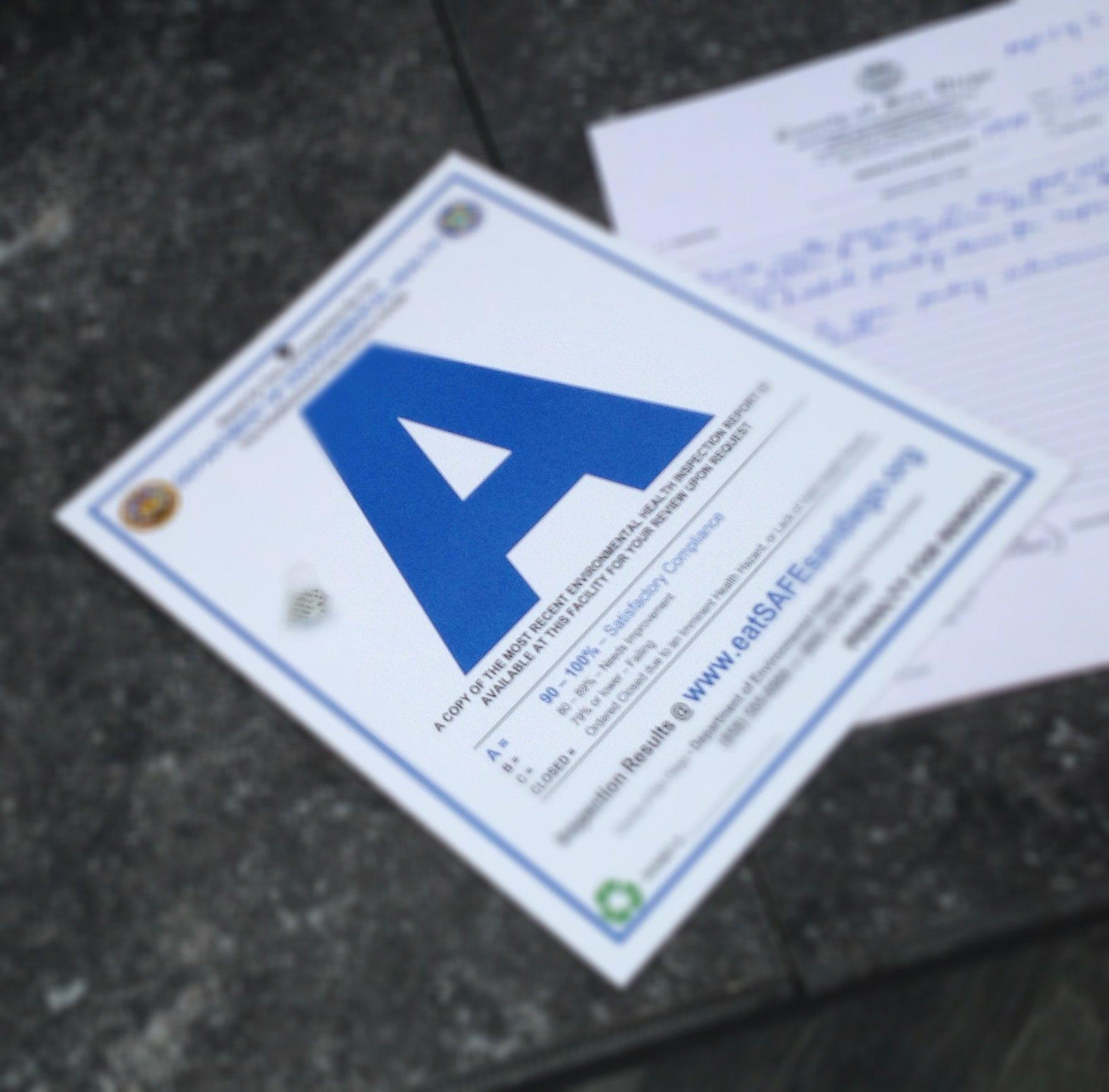 Environmental Health Grade Card